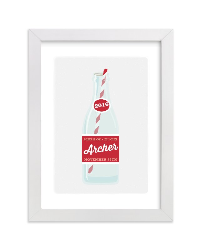 """""""Cool Cola"""" - Children's Custom Art Print by Itsy Belle Studio in beautiful frame options and a variety of sizes."""