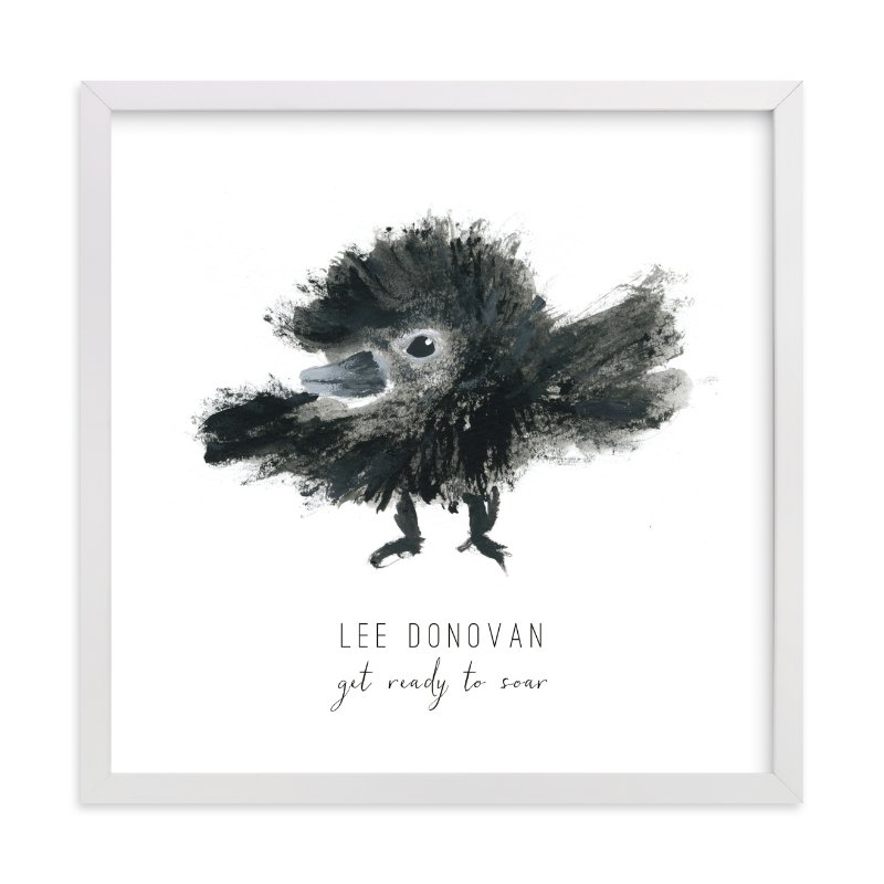 """Ready to Fly"" - Children's Custom Art Print by Simona Camp in beautiful frame options and a variety of sizes."
