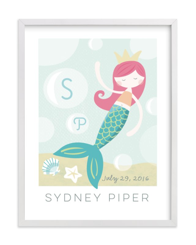 """""""sirens song"""" - Children's Custom Art Print by peetie design in beautiful frame options and a variety of sizes."""