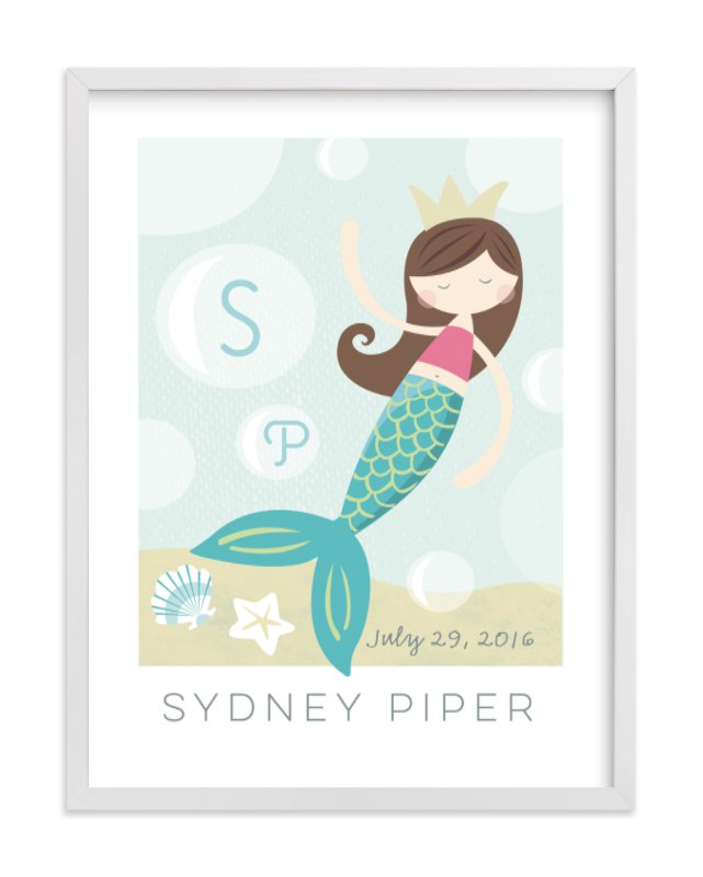 """sirens song"" - Children's Custom Art Print by peetie design in beautiful frame options and a variety of sizes."
