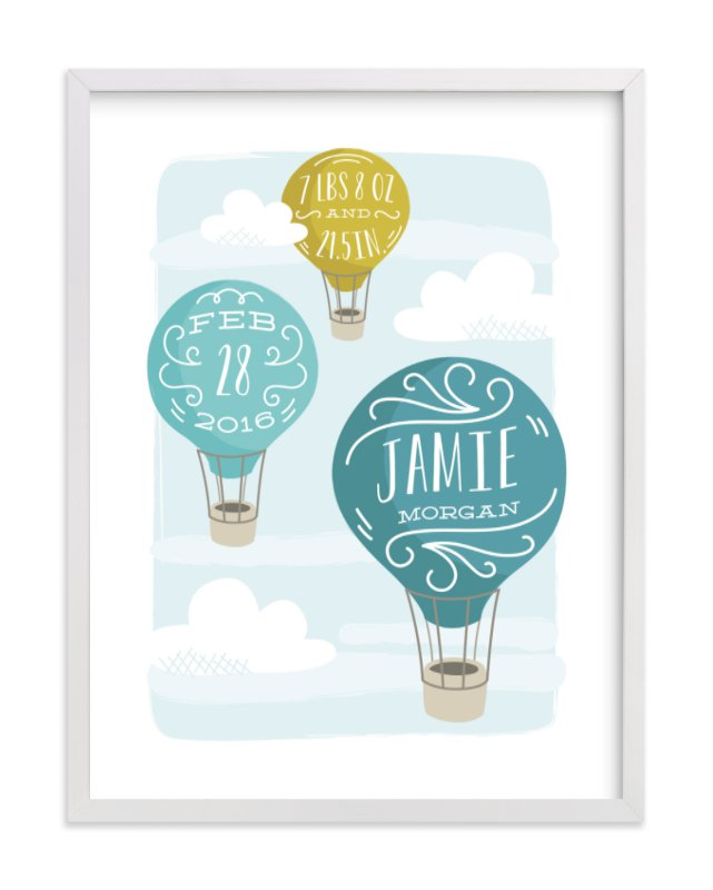"""""""Up and Away"""" - Children's Custom Art Print by Laura Hankins in beautiful frame options and a variety of sizes."""