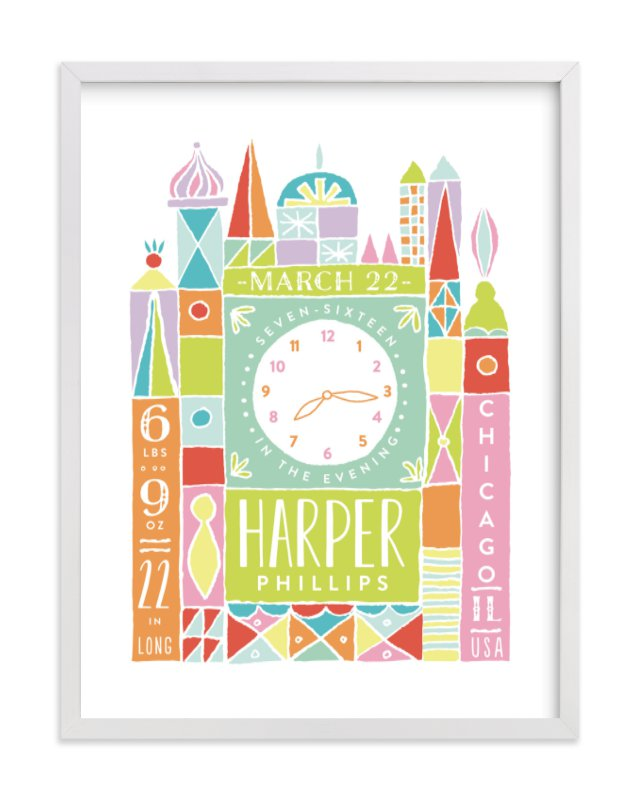 """""""Welcome to the World"""" - Children's Custom Art Print by Shiny Penny Studio in beautiful frame options and a variety of sizes."""