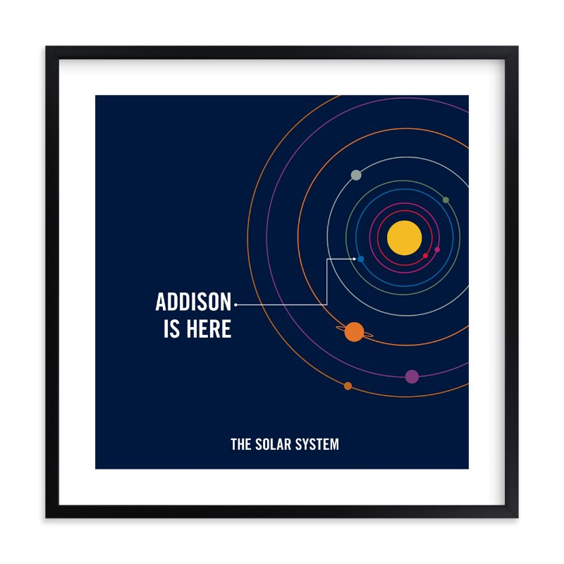 """""""You are Here"""" - Children's Custom Art Print by Robin L. Andrews in beautiful frame options and a variety of sizes."""