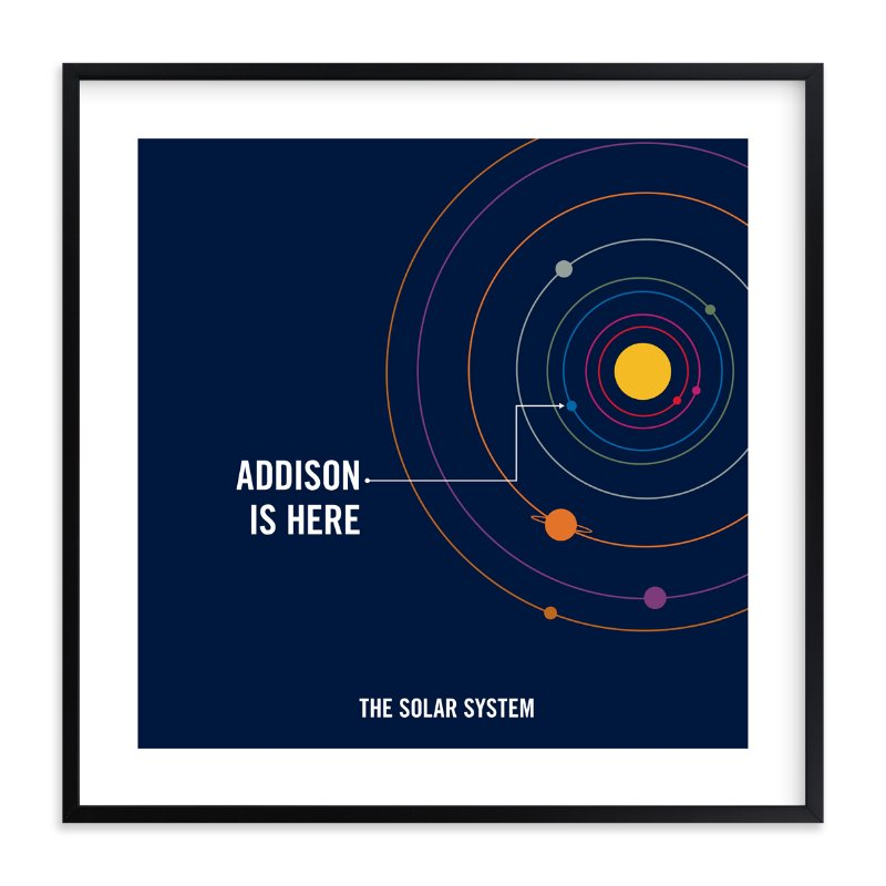 """You are Here"" - Children's Custom Art Print by Robin L. Andrews in beautiful frame options and a variety of sizes."