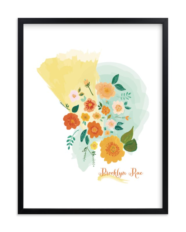 """""""Brooklyn"""" - Children's Custom Art Print by Erika Firm in beautiful frame options and a variety of sizes."""