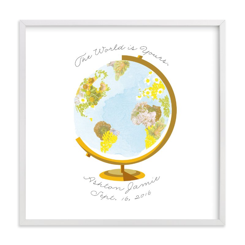"""""""Flower Globe"""" - Children's Custom Art Print by Baumbirdy in beautiful frame options and a variety of sizes."""
