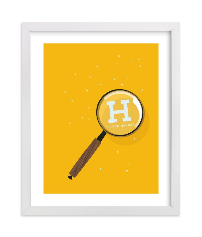 """""""Magnify Letters"""" - Children's Custom Art Print by Baumbirdy in beautiful frame options and a variety of sizes."""
