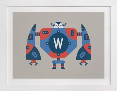 Big Robot Children's Custom Art Print