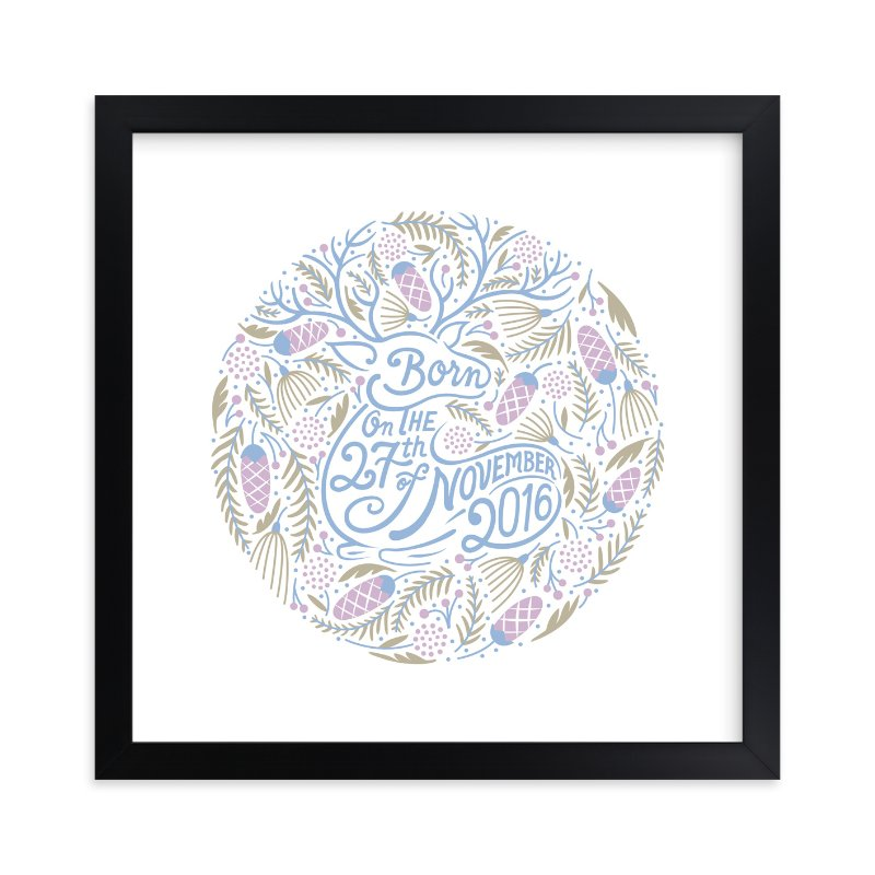 """Four Seasons Winter"" - Children's Custom Art Print by Surface Love in beautiful frame options and a variety of sizes."