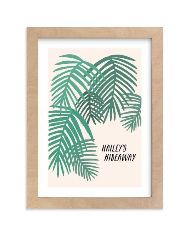 """Tropical Dreaming"" - Children's Custom Art Print by Vine and Thistle in beautiful frame options and a variety of sizes."