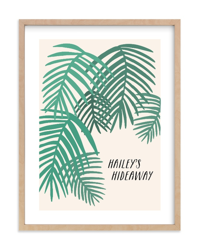 """""""Tropical Dreaming"""" - Children's Custom Art Print by Vine and Thistle in beautiful frame options and a variety of sizes."""