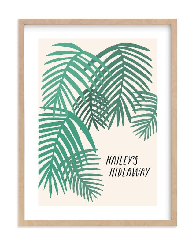 Tropical Dreaming Children's Custom Art Print