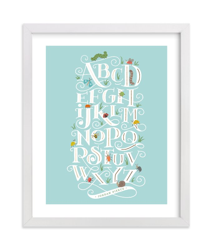 """""""Alphabugs"""" - Foil Pressed Children's Custom Photo Art Print by Jennifer Wick in beautiful frame options and a variety of sizes."""