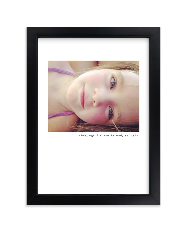 """""""Simple Type"""" - Children's Custom Photo Art Print by Sara Hicks Malone in beautiful frame options and a variety of sizes."""