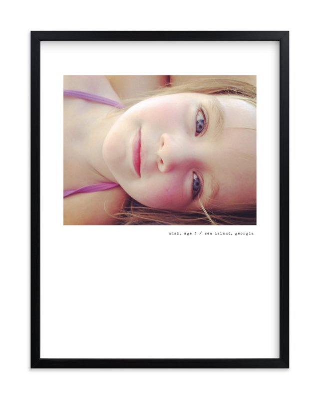 """Simple Type"" - Children's Custom Photo Art Print by Sara Hicks Malone in beautiful frame options and a variety of sizes."