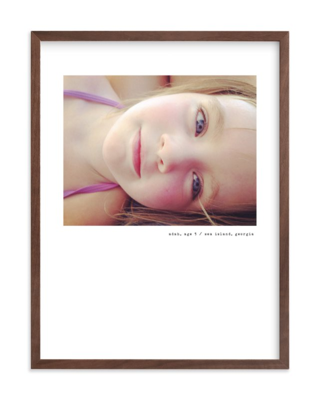 Simple Type Children's Custom Photo Art Print