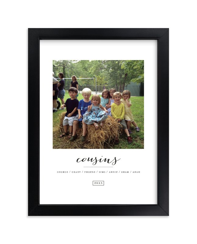 """""""Cousins"""" - Children's Custom Photo Art Print by Sara Hicks Malone in beautiful frame options and a variety of sizes."""