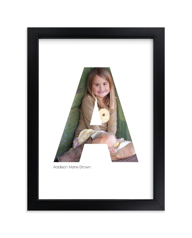 """A - Within Letters of You"" - Children's Custom Photo Art Print by Heather Francisco in beautiful frame options and a variety of sizes."