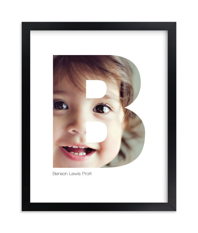 """""""B - Within Letters of You"""" - Children's Custom Photo Art Print by Heather Francisco in beautiful frame options and a variety of sizes."""