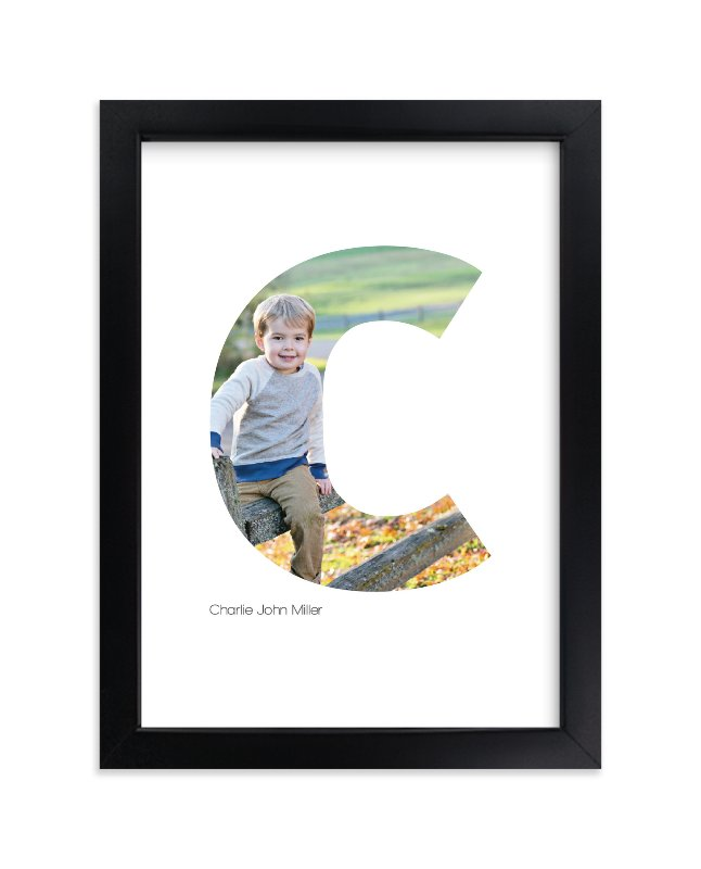 """C - Within Letters of You"" - Children's Custom Photo Art Print by Heather Francisco in beautiful frame options and a variety of sizes."