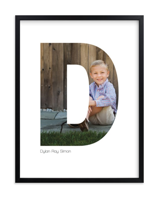 """D - Within Letters of You"" - Children's Custom Photo Art Print by Heather Francisco in beautiful frame options and a variety of sizes."