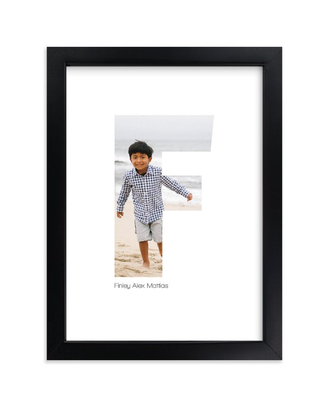 """""""F - Within Letters of You"""" - Children's Custom Photo Art Print by Heather Francisco in beautiful frame options and a variety of sizes."""