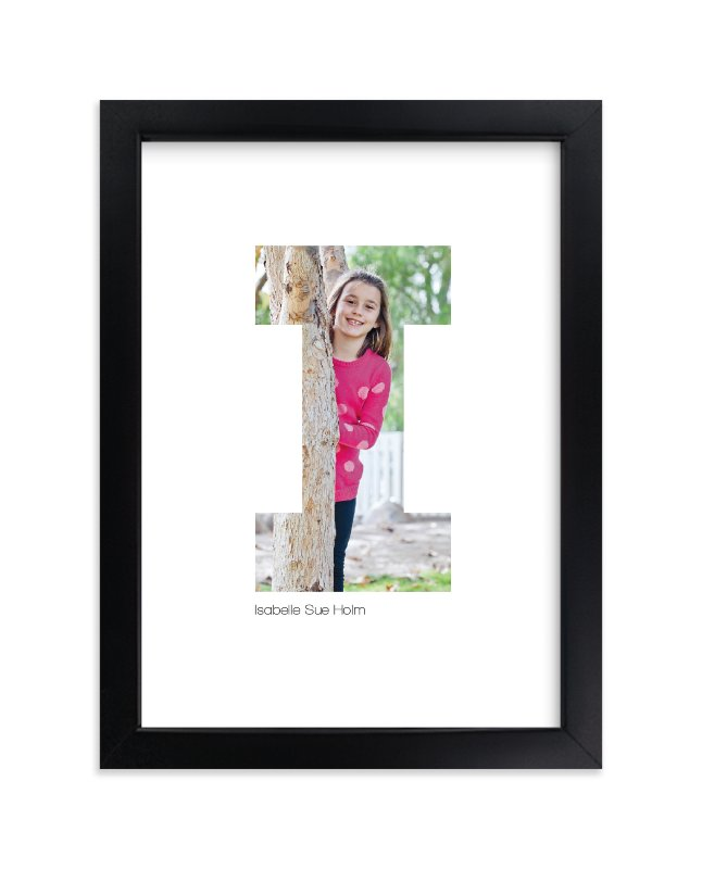 """I - Within Letters of You"" - Children's Custom Photo Art Print by Heather Francisco in beautiful frame options and a variety of sizes."