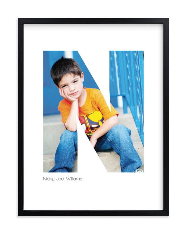 """""""N - Within Letters of You"""" - Children's Custom Photo Art Print by Heather Francisco in beautiful frame options and a variety of sizes."""