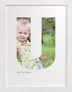 U - Within Letters of You Children's Custom Photo Art Print