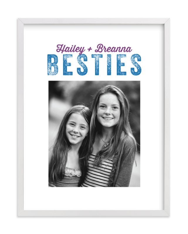 """Besties 1"" - Children's Custom Photo Art Print by Kamala Nahas in beautiful frame options and a variety of sizes."