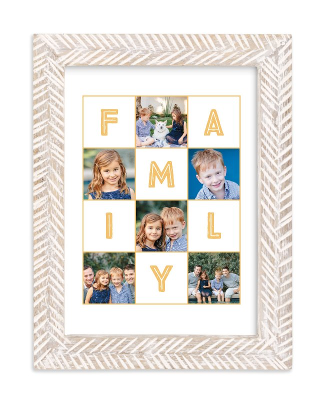 """""""Family memories"""" - Children's Custom Photo Art Print by Alexandra Dzh in beautiful frame options and a variety of sizes."""