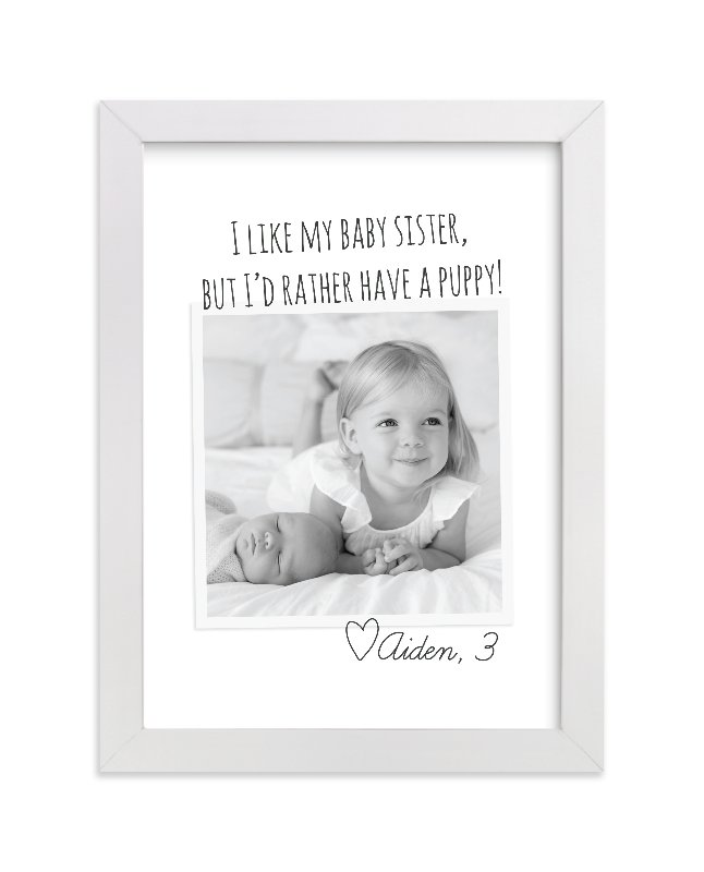 """Kid's Quote"" - Children's Custom Photo Art Print by Jessie Steury in beautiful frame options and a variety of sizes."