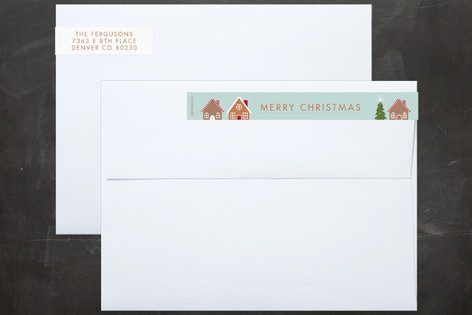 Home For Christmas SkinnywrapTM Address Labels