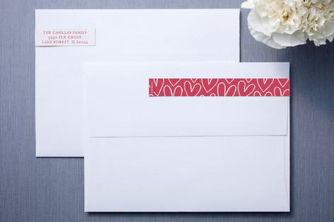 Hand Drawn Hearts Skinnywrap™ Address Labels