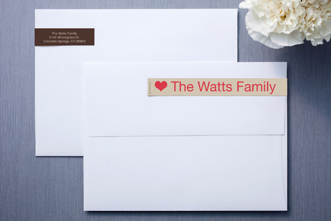 Chocolate Skinnywrap™ Address Labels