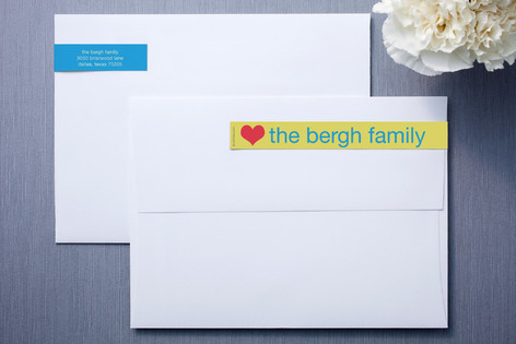 Sunshine and Blue Skinnywrap™ Address Labels