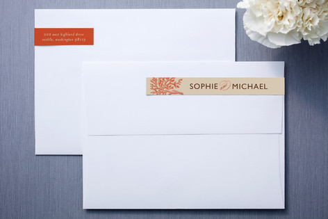 Coral Skinnywrap™ Address Labels