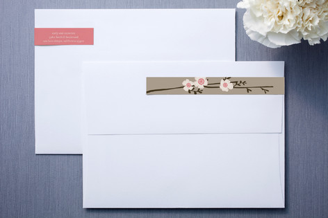 Apple Blossom Skinnywrap™ Address Labels