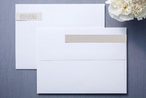 modern crest skinnywrap address labels by milkm minted