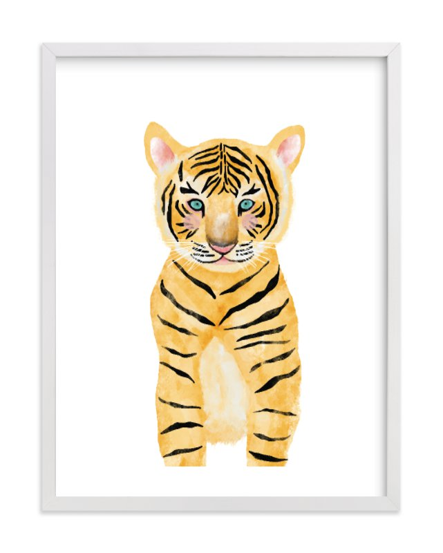 """baby animal.tiger"" - Limited Edition Art Print by Cass Loh in beautiful frame options and a variety of sizes."