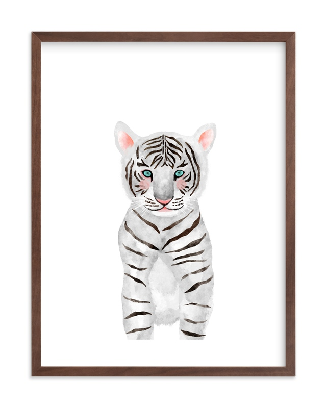 baby animal.tiger Children's Art Print