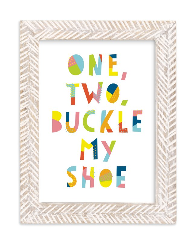 """""""Buckle My Shoe"""" - Limited Edition Art Print by Ariel Rutland in beautiful frame options and a variety of sizes."""