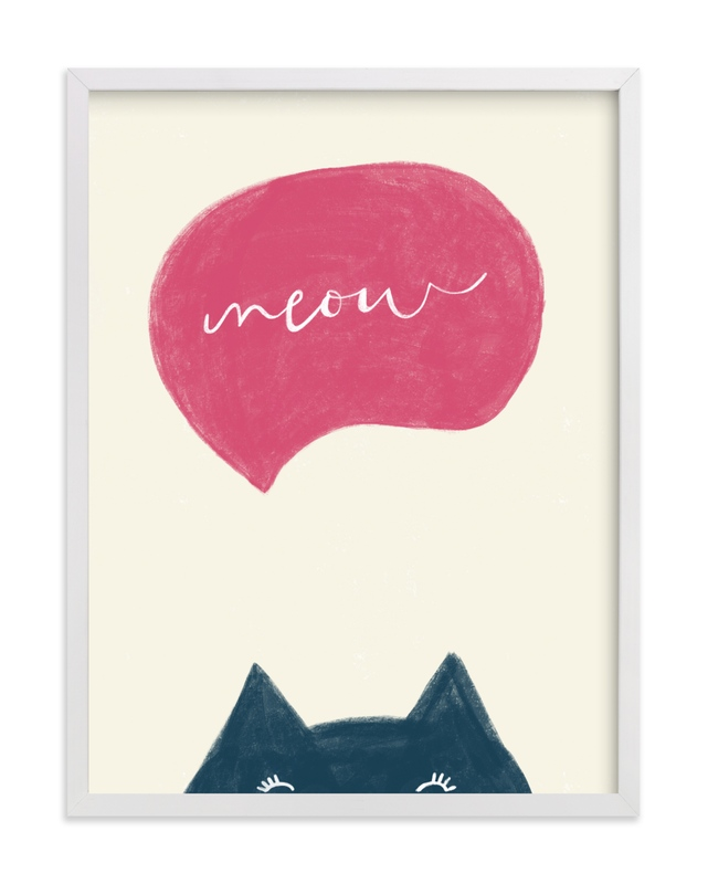 """Meow Meow"" - Limited Edition Art Print by Pixel and Hank in beautiful frame options and a variety of sizes."