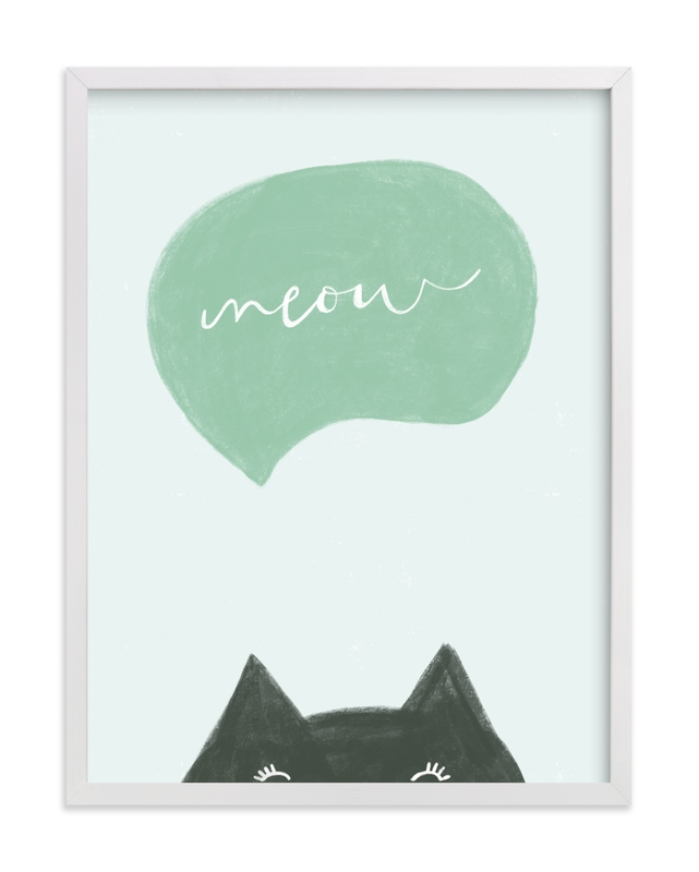 Meow Meow Children's Art Print