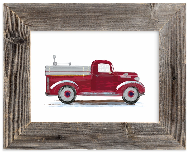 """""""Vintage fire apparatus"""" - Limited Edition Art Print by Rebecca Marchese in beautiful frame options and a variety of sizes."""