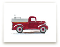 Vintage fire apparatus by Rebecca Marchese