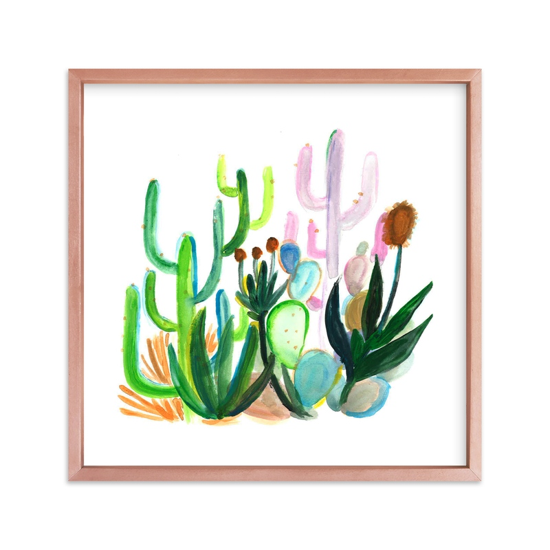"""""""Desert Jungle"""" - Limited Edition Art Print by Holly Royval in beautiful frame options and a variety of sizes."""