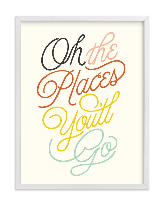 This is a colorful kids wall art by Yours Madly called Going Places.