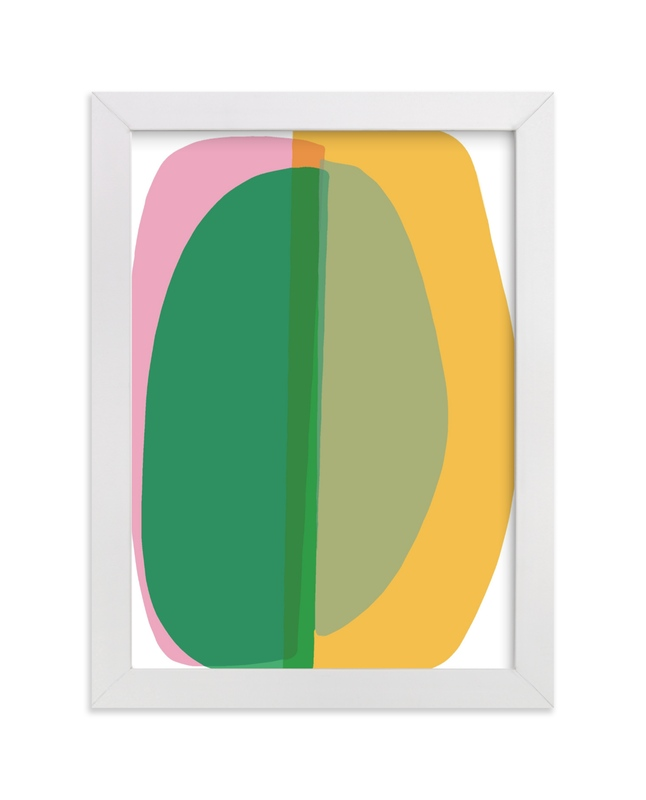 """spring green abstract"" - Limited Edition Art Print by tina johnson in beautiful frame options and a variety of sizes."