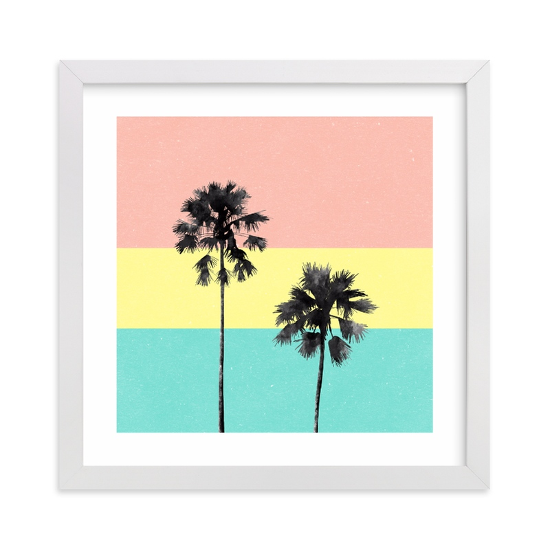 """Palm Tree Silhouette"" - Limited Edition Art Print by Cass Loh in beautiful frame options and a variety of sizes."